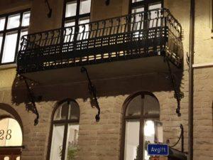 balkongräcke i smide